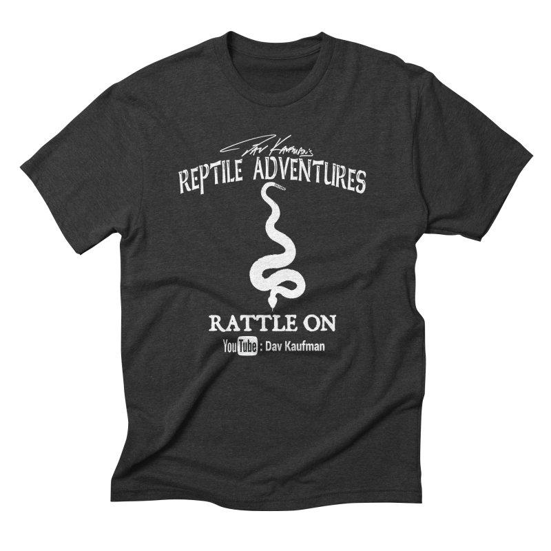 Dāv Kaufman's Reptile Adventures official logo in white Men's Triblend T-Shirt by Dav Kaufman's Swag Shop!