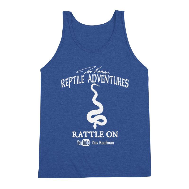 Dāv Kaufman's Reptile Adventures official logo in white Men's Tank by Dav Kaufman's Swag Shop!