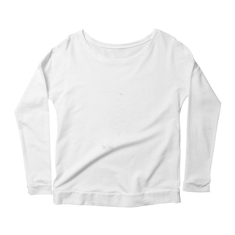 Dāv Kaufman's Reptile Adventures official logo in white Women's Scoop Neck Longsleeve T-Shirt by Dav Kaufman's Swag Shop!