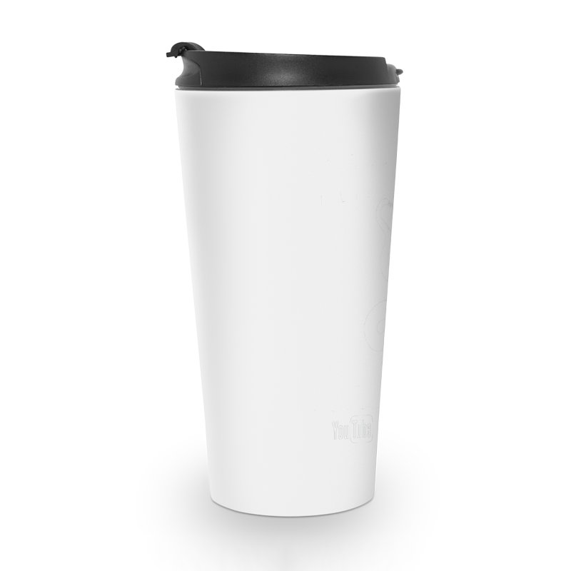 Dāv Kaufman's Reptile Adventures official logo in white Accessories Travel Mug by Dav Kaufman's Swag Shop!