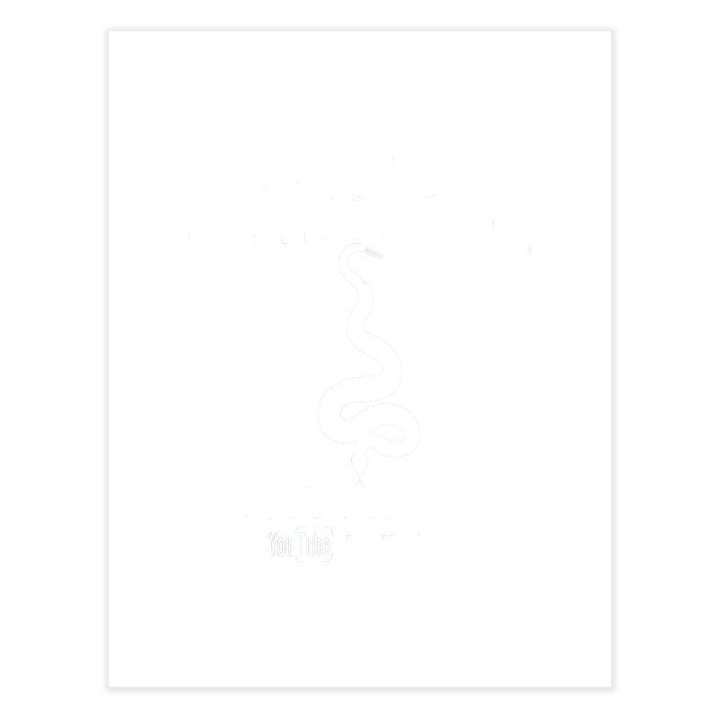Dāv Kaufman's Reptile Adventures official logo in white Home Fine Art Print by Dav Kaufman's Swag Shop!