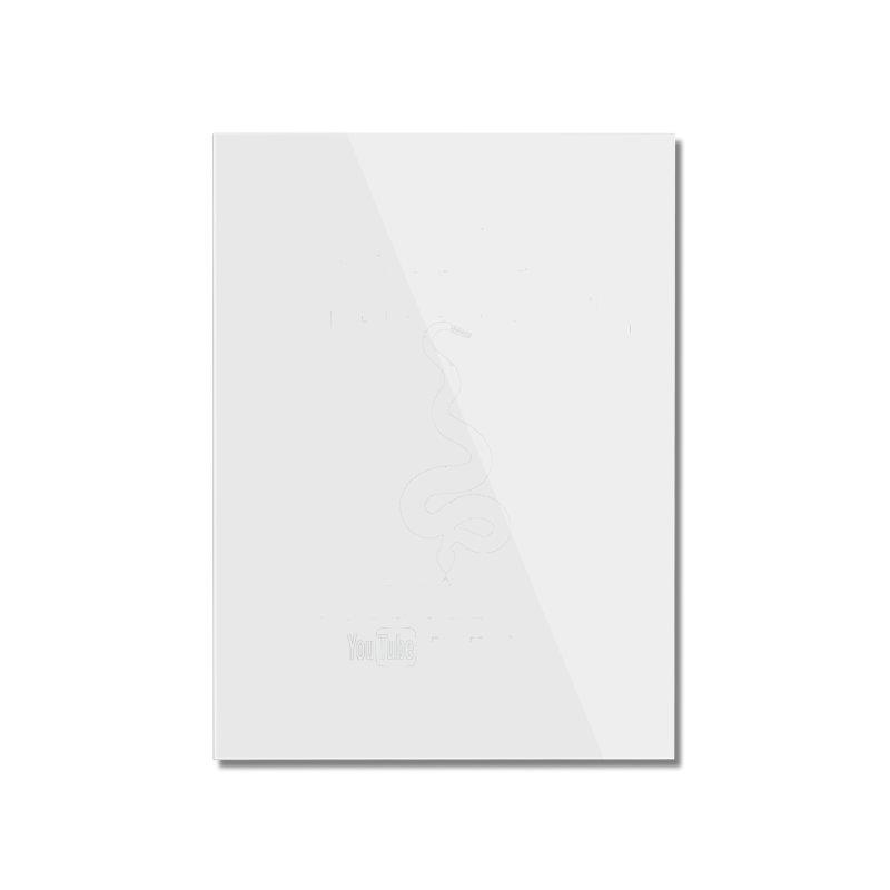 Dāv Kaufman's Reptile Adventures official logo in white Home Mounted Acrylic Print by Dav Kaufman's Swag Shop!
