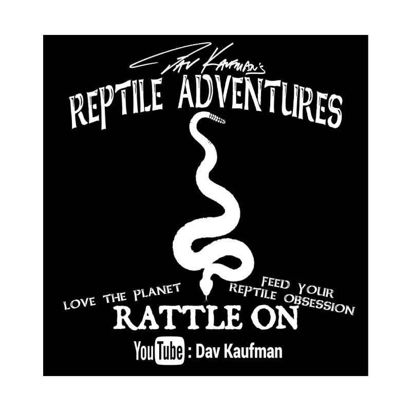 Dāv Kaufman's Reptile Adventures official (alt design) logo in white Men's Pullover Hoody by Dav Kaufman's Swag Shop!