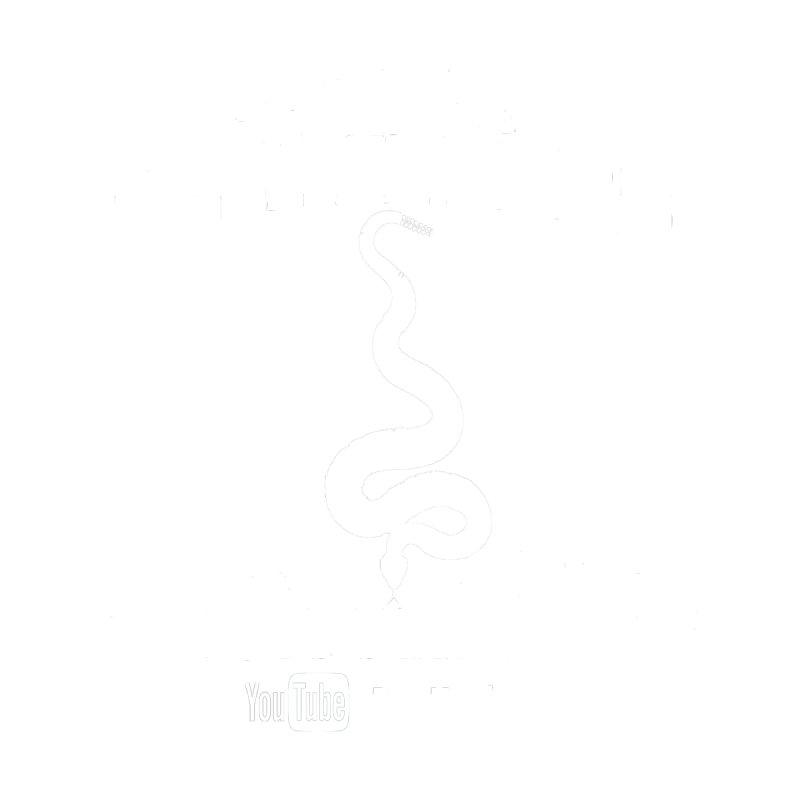 Dāv Kaufman's Reptile Adventures official (alt design) logo in white Men's Longsleeve T-Shirt by Dav Kaufman's Swag Shop!