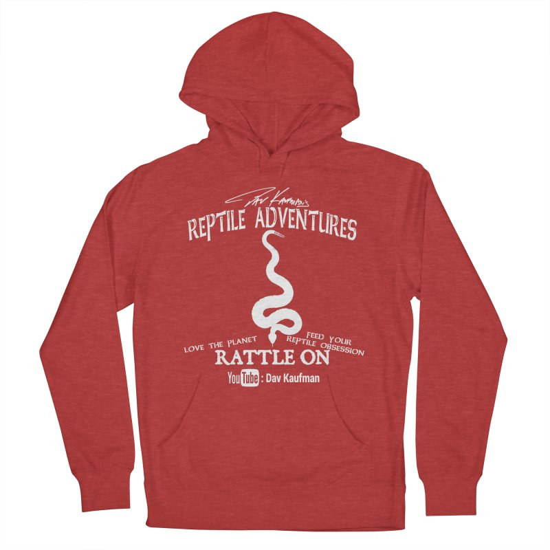 Dāv Kaufman's Reptile Adventures official (alt design) logo in white Women's Pullover Hoody by Dav Kaufman's Swag Shop!