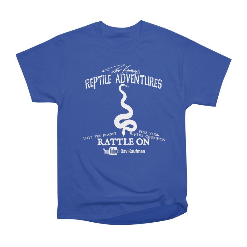 Dāv Kaufman's Reptile Adventures official (alt design) logo in white Men's Heavyweight T-Shirt by Dav Kaufman's Swag Shop!
