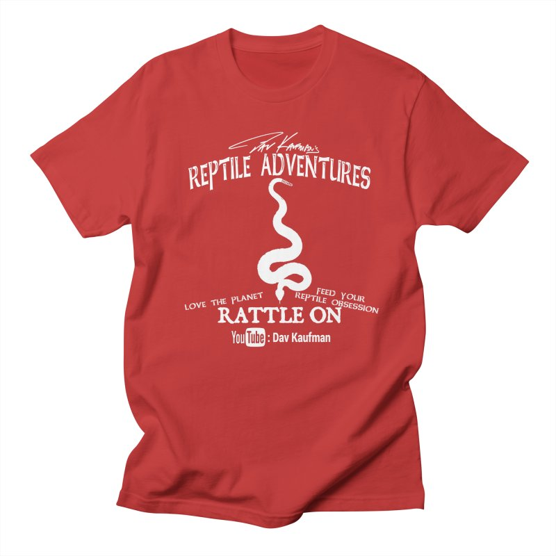 Dāv Kaufman's Reptile Adventures official (alt design) logo in white Women's Regular Unisex T-Shirt by Dav Kaufman's Swag Shop!