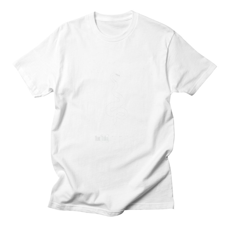 Dāv Kaufman's Reptile Adventures official (alt design) logo in white Men's T-Shirt by Dav Kaufman's Swag Shop!