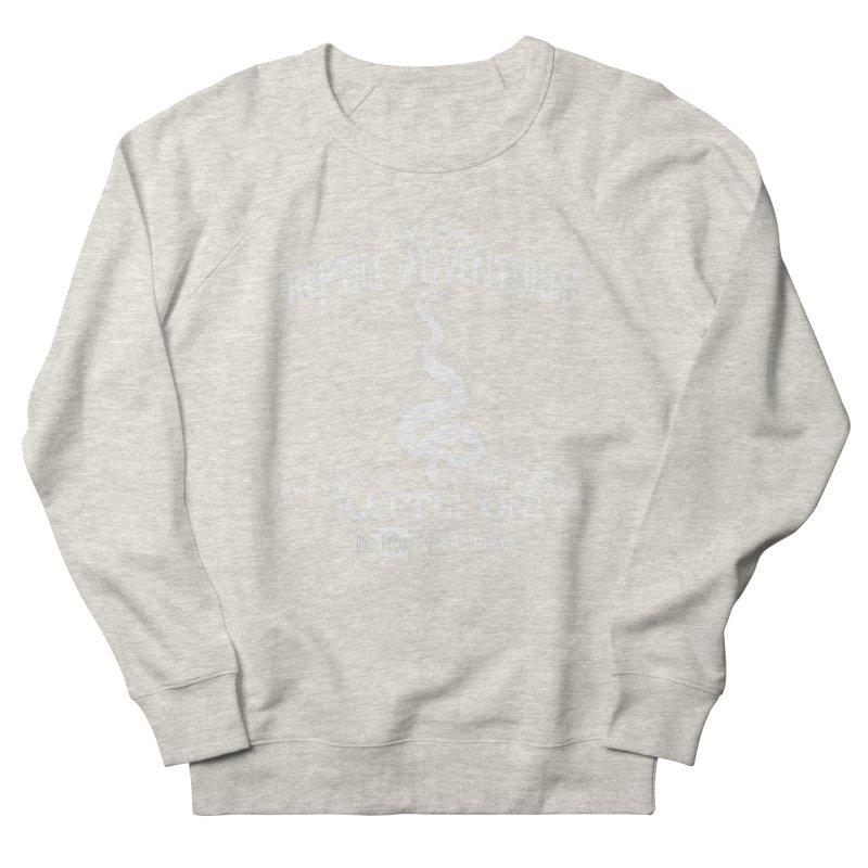 Dāv Kaufman's Reptile Adventures official (alt design) logo in white Women's French Terry Sweatshirt by Dav Kaufman's Swag Shop!