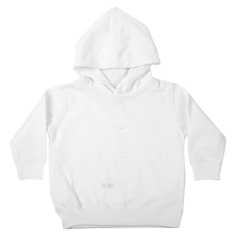 Dāv Kaufman's Reptile Adventures official (alt design) logo in white Kids Toddler Pullover Hoody by Dav Kaufman's Swag Shop!