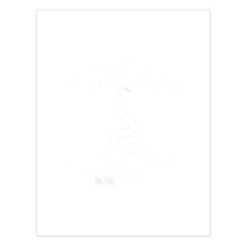 Dāv Kaufman's Reptile Adventures official (alt design) logo in white Home Fine Art Print by Dav Kaufman's Swag Shop!