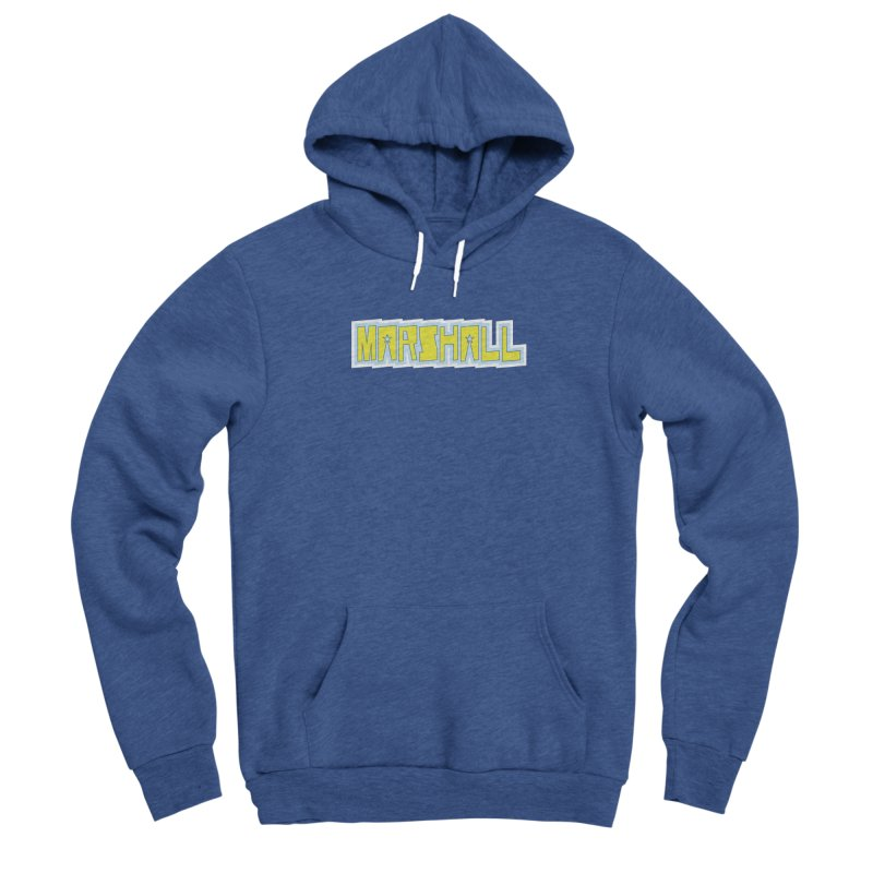 Marshall Logo Men's Sponge Fleece Pullover Hoody by daybreakdivision's Artist Shop