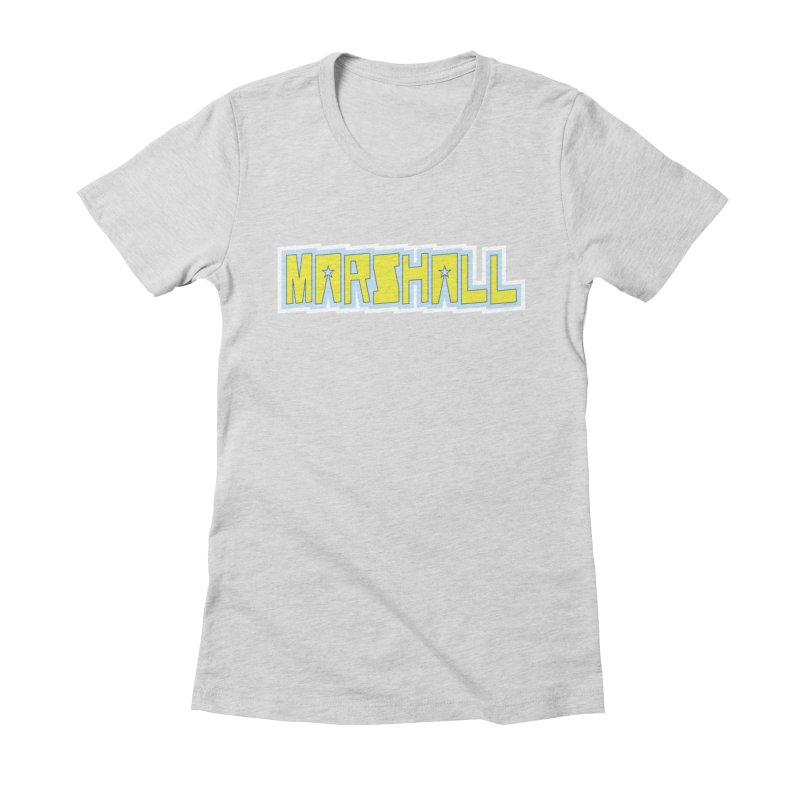 Marshall Logo Women's Fitted T-Shirt by daybreakdivision's Artist Shop