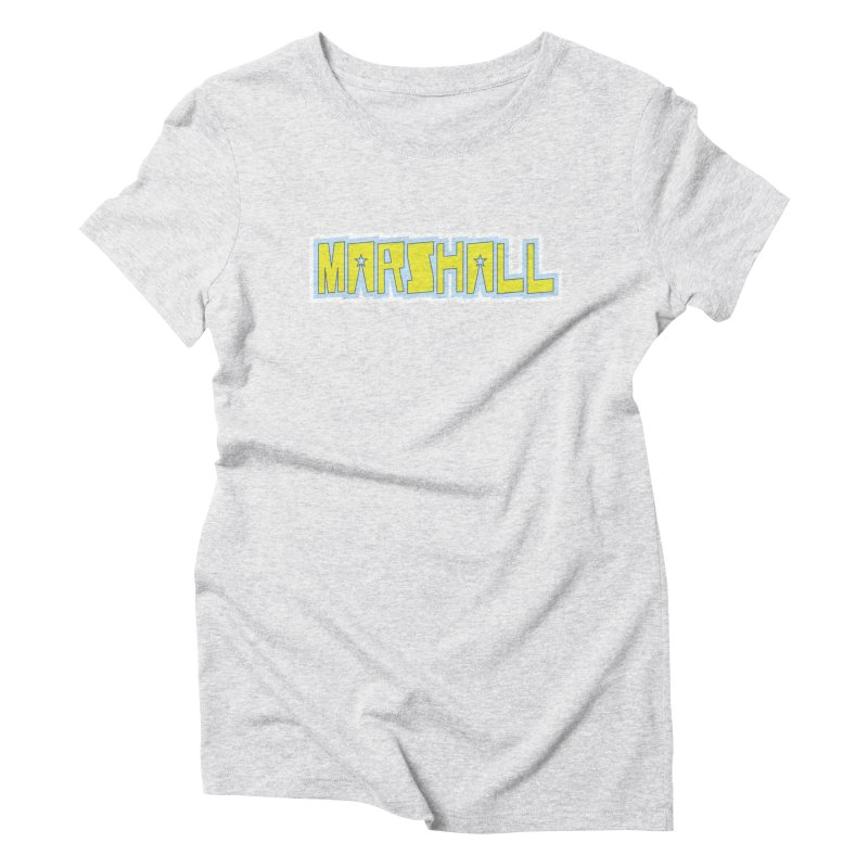 Marshall Logo Women's Triblend T-Shirt by daybreakdivision's Artist Shop
