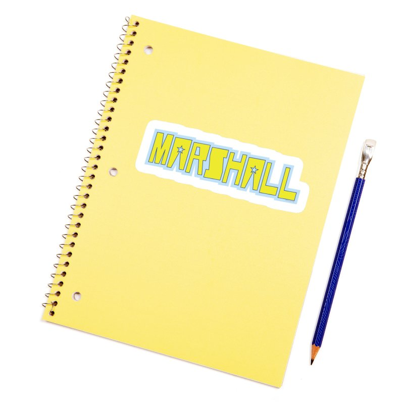 Marshall Logo Accessories Sticker by daybreakdivision's Artist Shop
