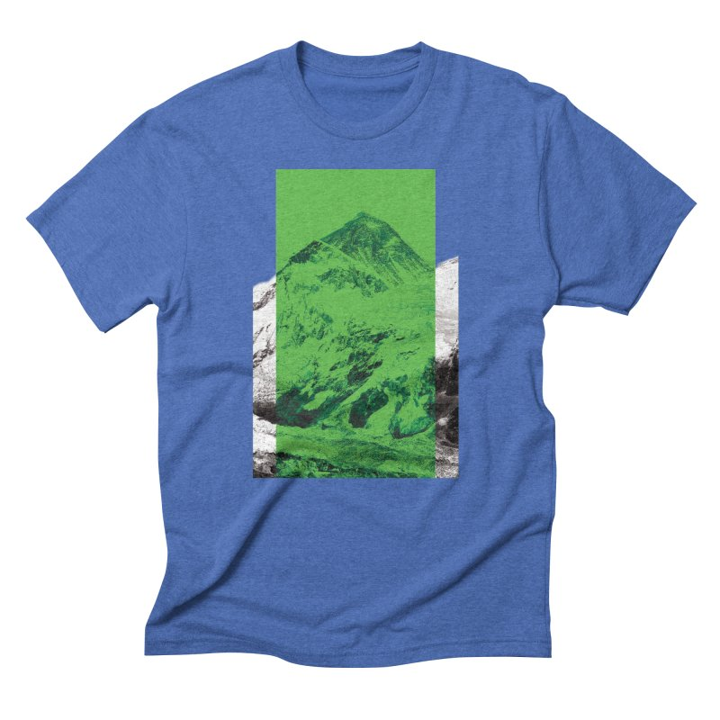 Ever green in Men's Triblend T-Shirt Blue Triblend by Daydalaus designs