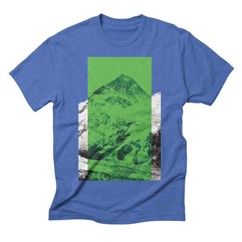 Ever green in Men's Triblend T-shirt Blue Triblend by Daydalaus' Artist Shop