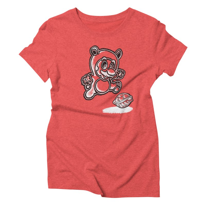 Bear suit Women's Triblend T-Shirt by Daydalaus designs
