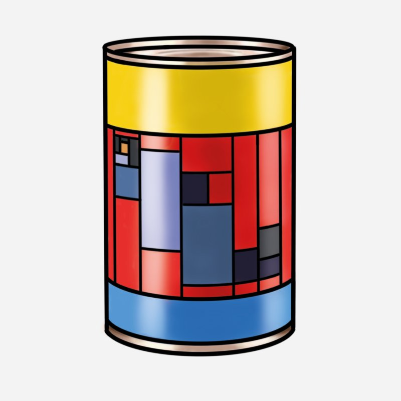 Mondrian in a pop can   by Daydalaus designs