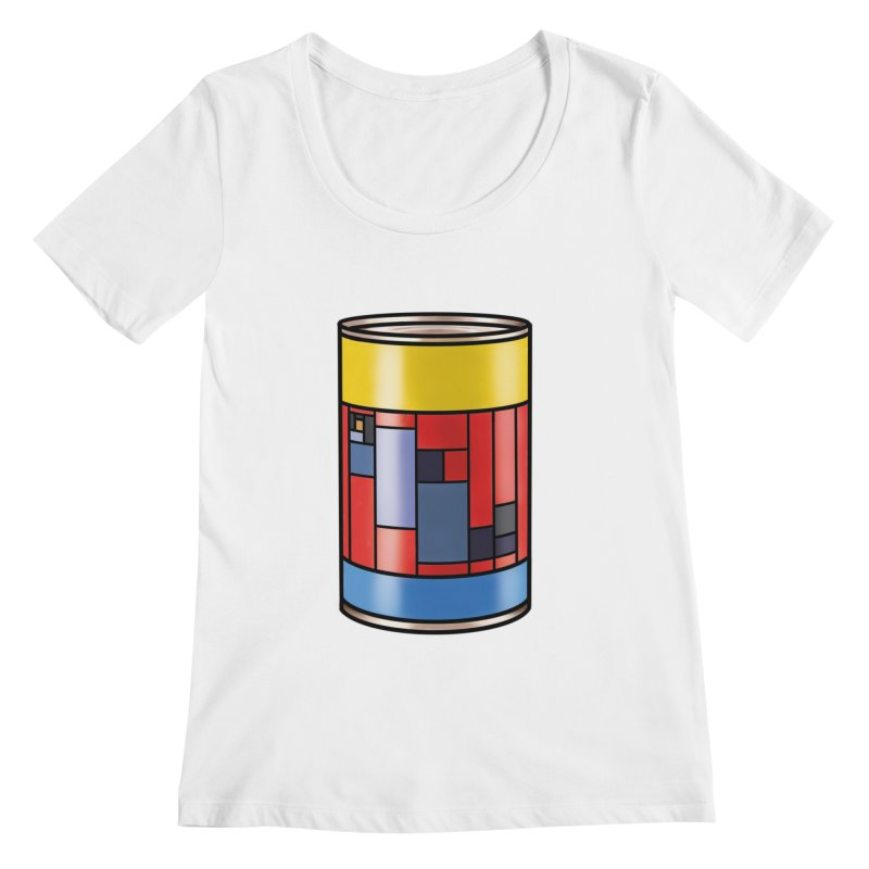 Mondrian in a pop can Women's Scoopneck by Daydalaus designs