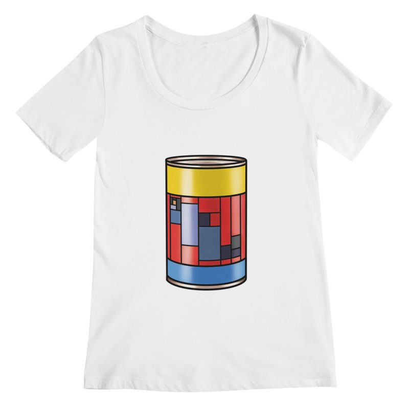 Mondrian in a pop can Women's Scoopneck by Daydalaus' Artist Shop