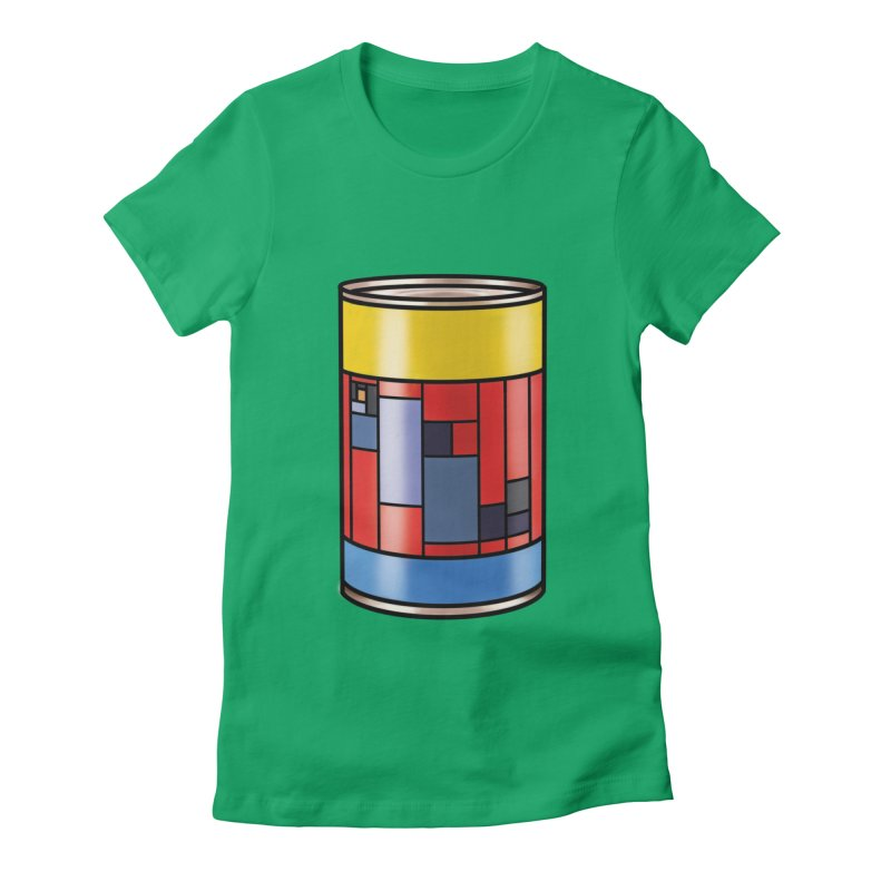 Mondrian in a pop can Women's Fitted T-Shirt by Daydalaus' Artist Shop