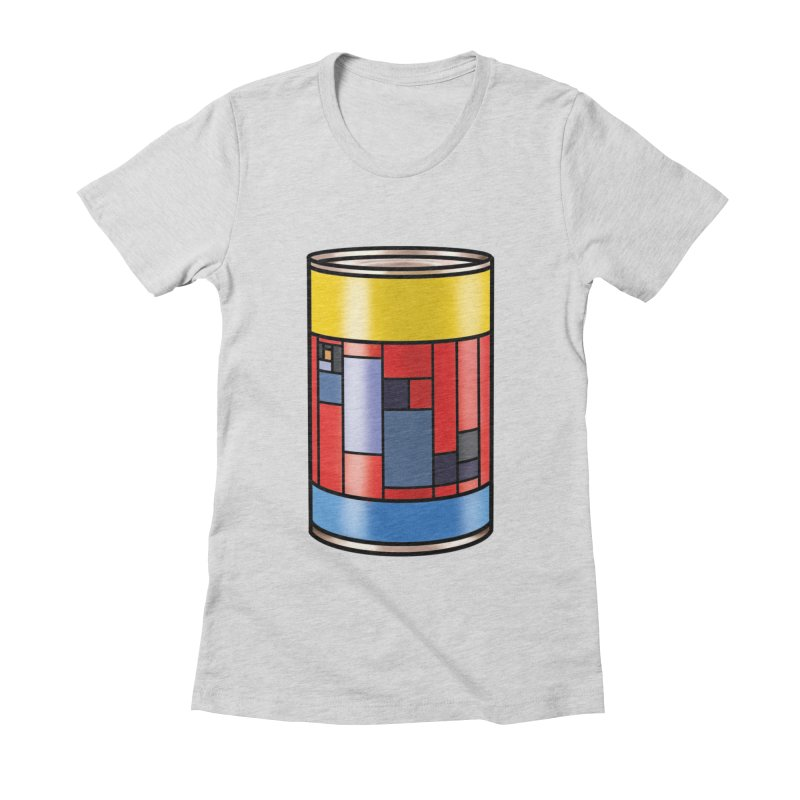 Mondrian in a pop can Women's Fitted T-Shirt by Daydalaus designs