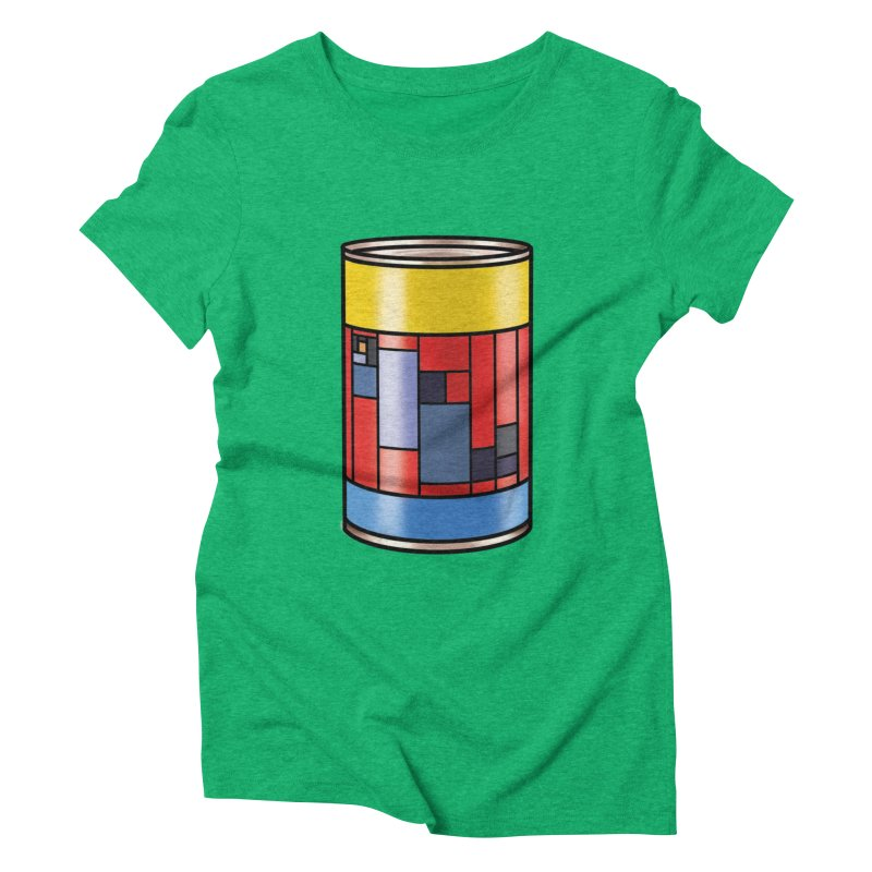 Mondrian in a pop can Women's Triblend T-Shirt by Daydalaus designs
