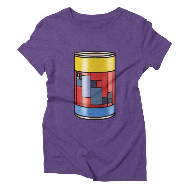 Mondrian in a pop can in Women's Triblend T-Shirt Tri-Purple by Daydalaus designs