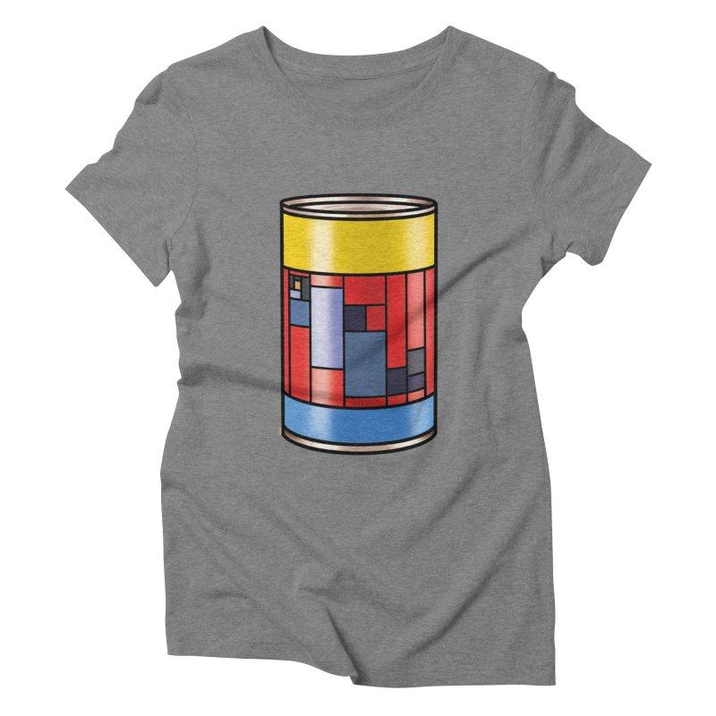 Mondrian in a pop can Women's Triblend T-Shirt by Daydalaus designs
