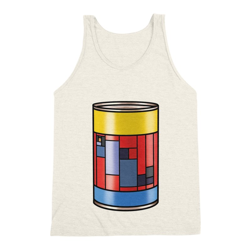 Mondrian in a pop can Men's Triblend Tank by Daydalaus designs