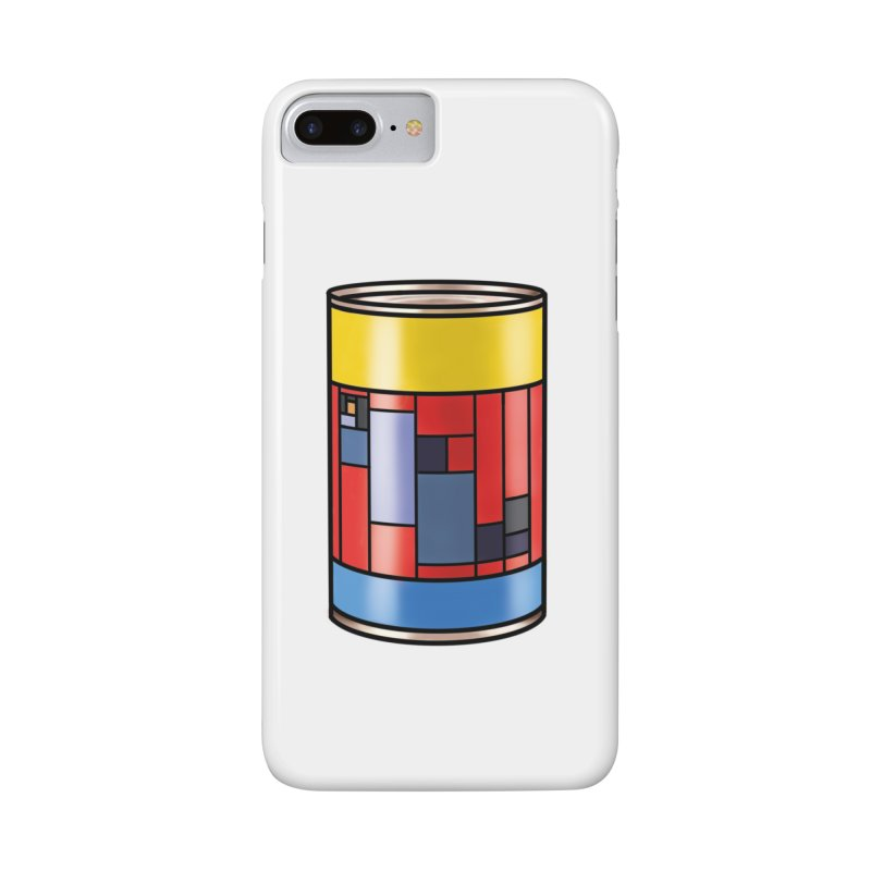 Mondrian in a pop can in iPhone 8 Plus Phone Case Slim by Daydalaus designs