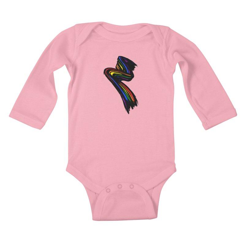 Pride paint Kids Baby Longsleeve Bodysuit by Daydalaus designs