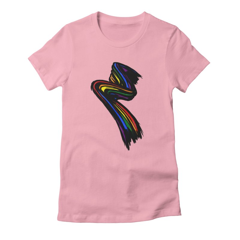 Pride paint Women's Fitted T-Shirt by Daydalaus designs