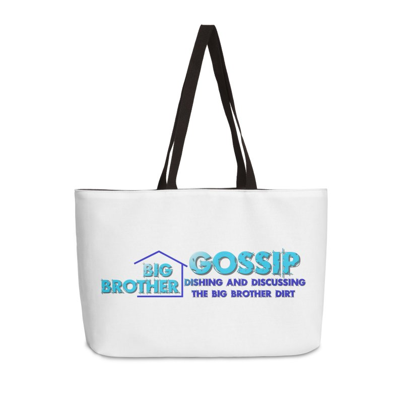 Big Brother Gossip Horizontal Accessories Weekender Bag Bag by The Official Store of the Big Brother Gossip Show
