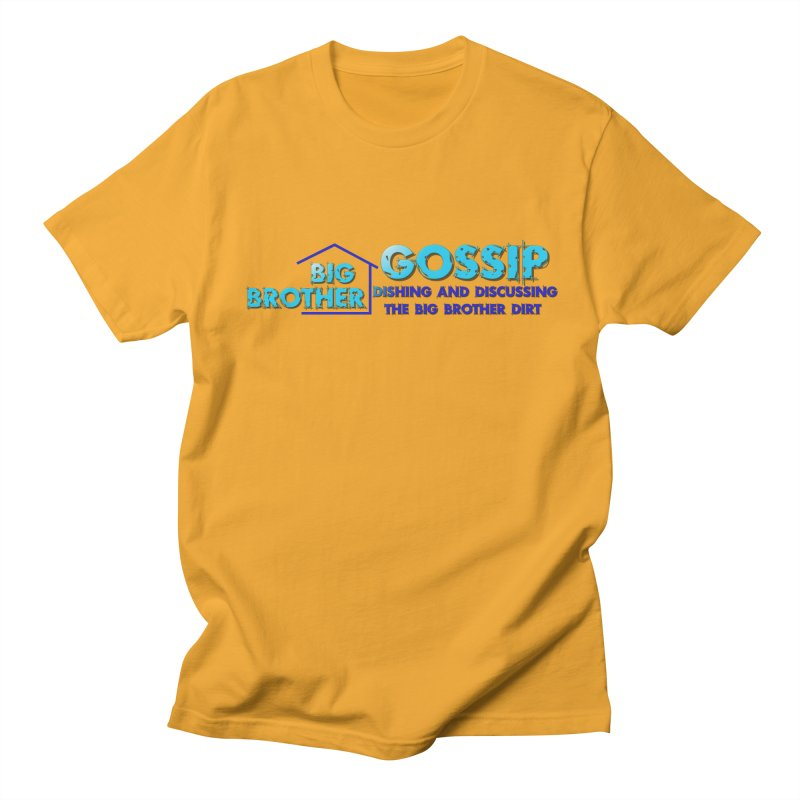 Big Brother Gossip Horizontal Men's Regular T-Shirt by The Official Store of the Big Brother Gossip Show