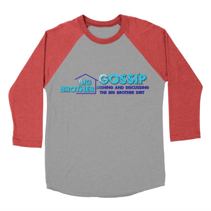 Big Brother Gossip Horizontal Men's Baseball Triblend Longsleeve T-Shirt by The Official Store of the Big Brother Gossip Show