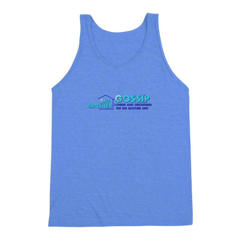 Big Brother Gossip Horizontal Men's Triblend Tank by The Official Store of the Big Brother Gossip Show