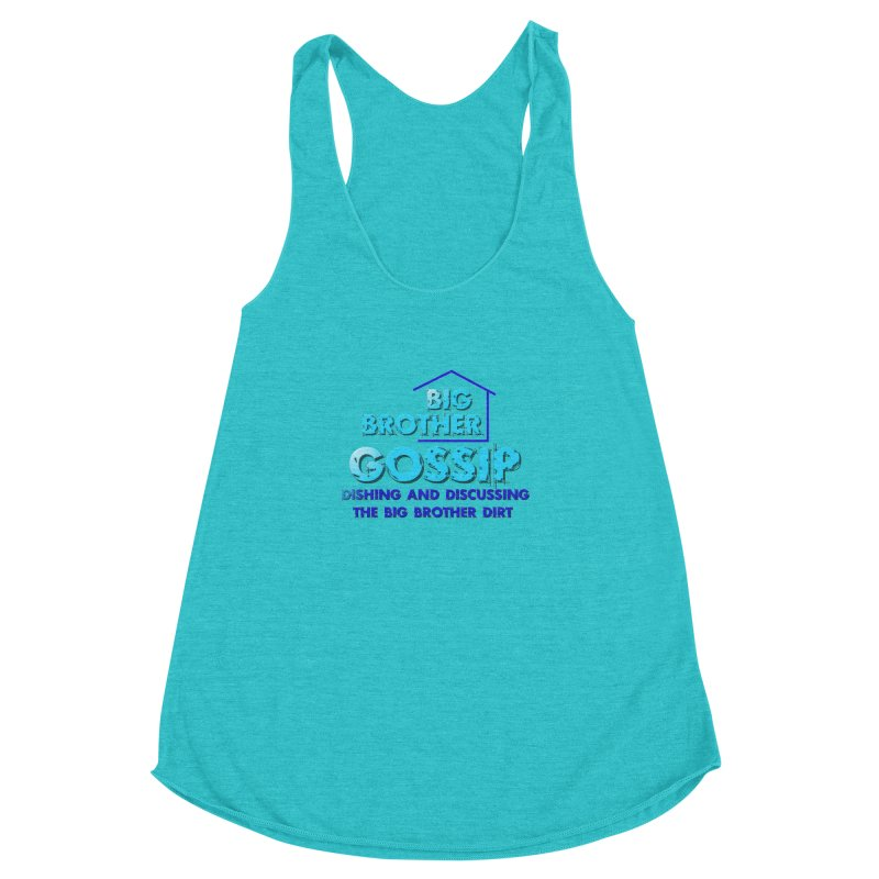 Big Brother Gossip Vertical Women's Racerback Triblend Tank by The Official Store of the Big Brother Gossip Show