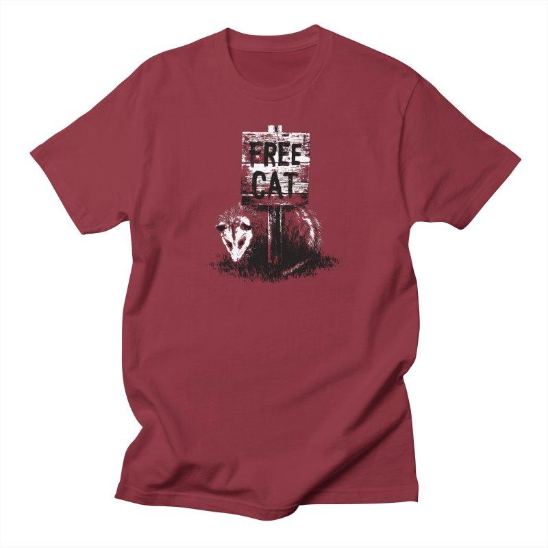 Free Cat Men's T-shirt by dayswideawake