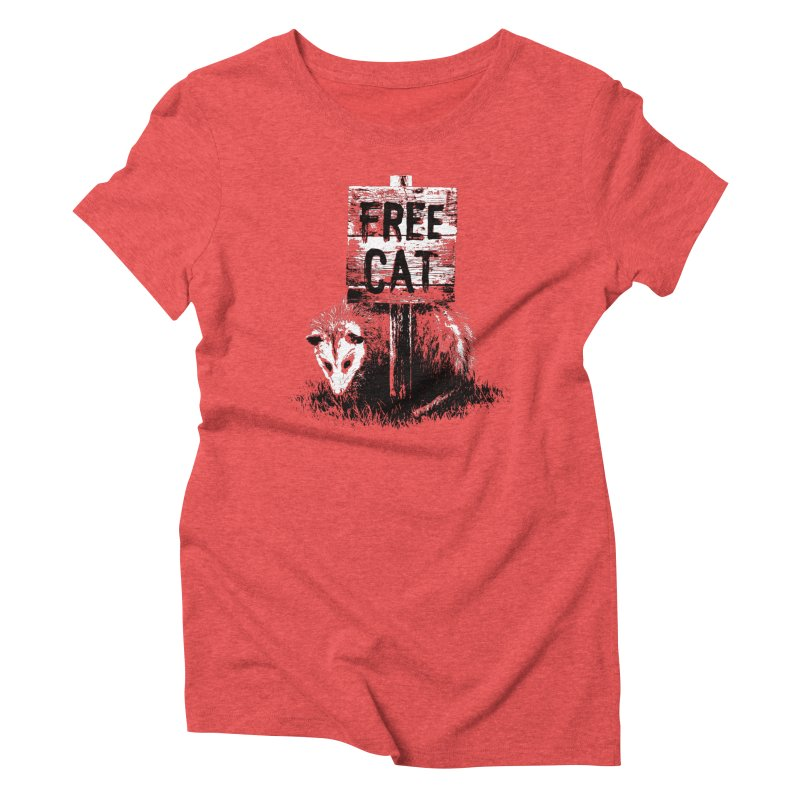 Free Cat Women's Triblend T-Shirt by dayswideawake