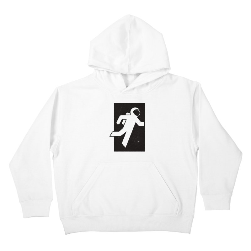 Space Exit Kids Pullover Hoody by dayswideawake