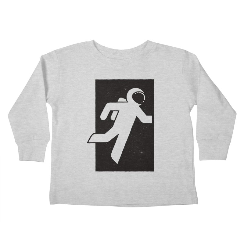 Space Exit Kids Toddler Longsleeve T-Shirt by dayswideawake