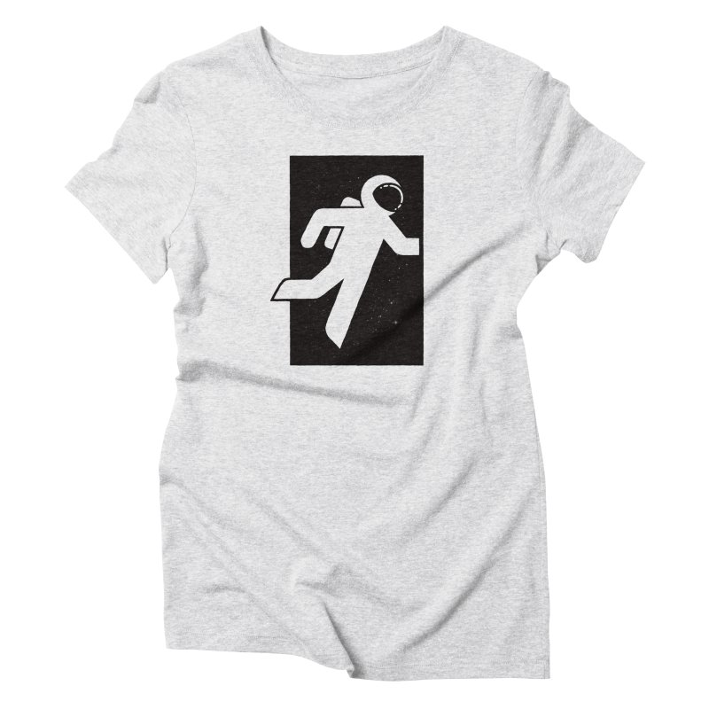 Space Exit Women's Triblend T-Shirt by dayswideawake