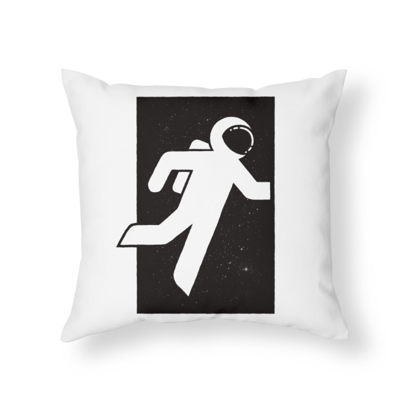 Space Exit Home Throw Pillow by dayswideawake