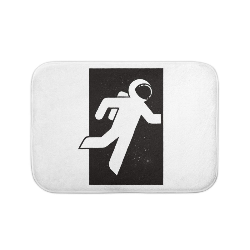 Space Exit Home Bath Mat by dayswideawake