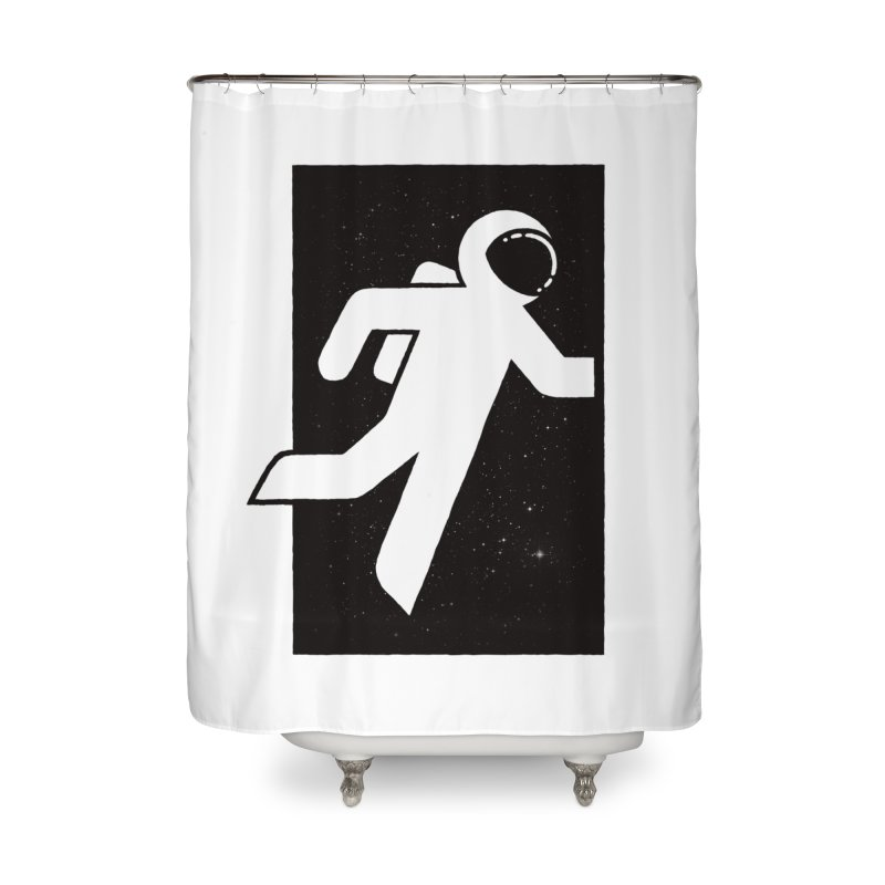 Space Exit Home Shower Curtain by dayswideawake