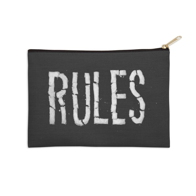 Broken Rules Accessories Zip Pouch by dayswideawake