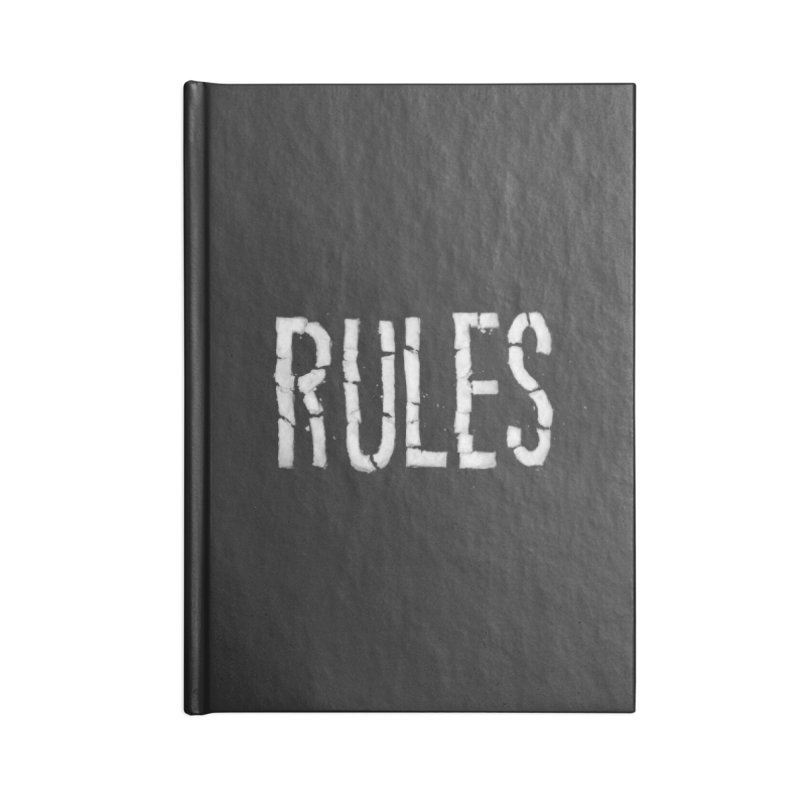 Broken Rules Accessories Notebook by dayswideawake