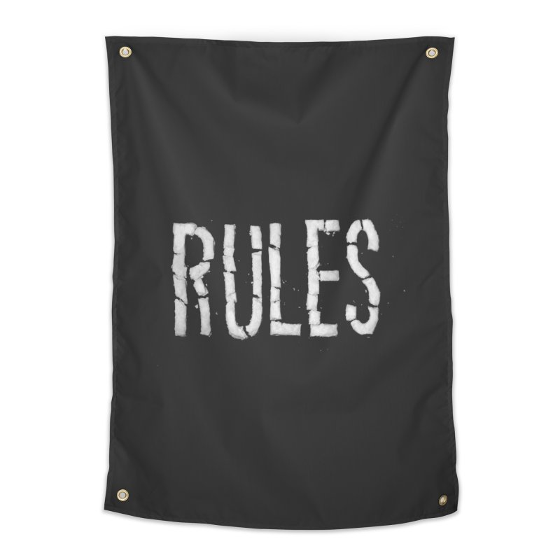 Broken Rules Home Tapestry by dayswideawake